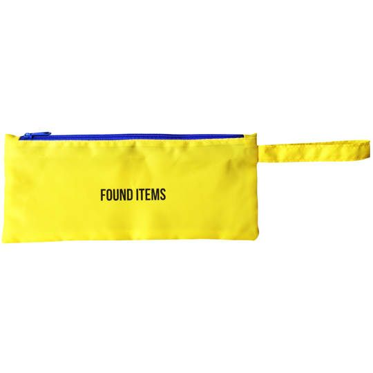 Found Items Zipped Pouch with Handle