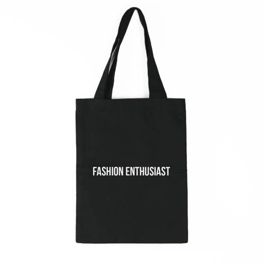Fashion Enthusiast Tote Bag (Black)