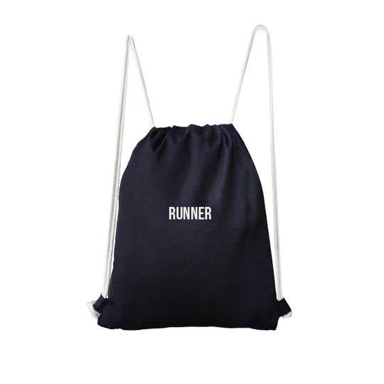 Runner Drawstring Bag (Black)