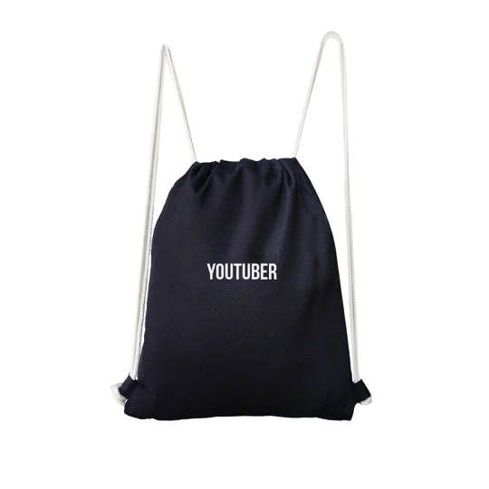 Youtuber Drawstring Bag (Black)