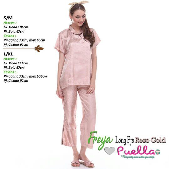 Freya Long Piyama Rose Gold