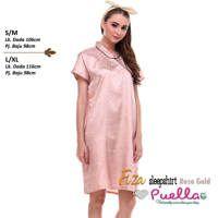 Fiza Satin Sleepshirt Rose Gold