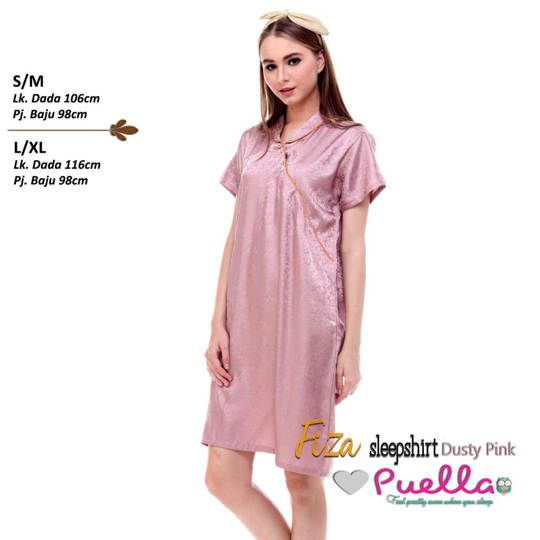 Fiza Satin Sleepshirt Dusty Pink
