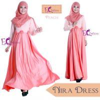 Nira Dress Peach/Baju Muslim