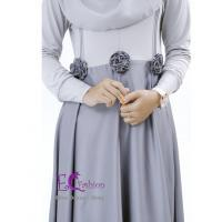 Nira Dress Grey/Baju Muslim