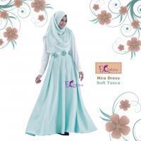 Nira Dress Soft Tosca/Baju Muslim