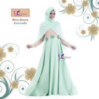 Nira Dress Avocado/Baju Muslim