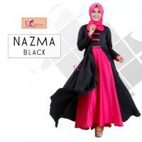 Nazma Dress Black/Baju Muslim