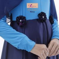 Nira Dress Navy/Baju Muslim