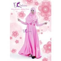 Nira Dress Pink/Baju Muslim