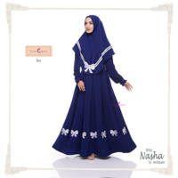 Nasha Dress Set (Dress & Jilbab) / Baju Muslim Terbaru