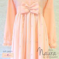 Dress Naura / Baju Muslim Terbaru