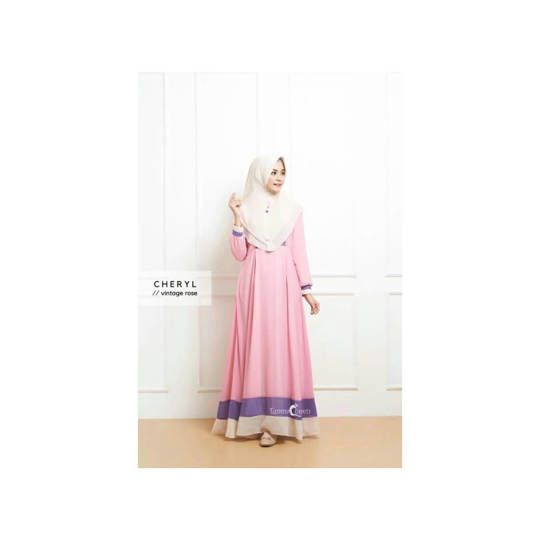 Dress Muslim Cheryl / Gamis Cheryl