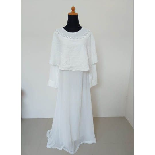 DRESS BRUKAT WHITE