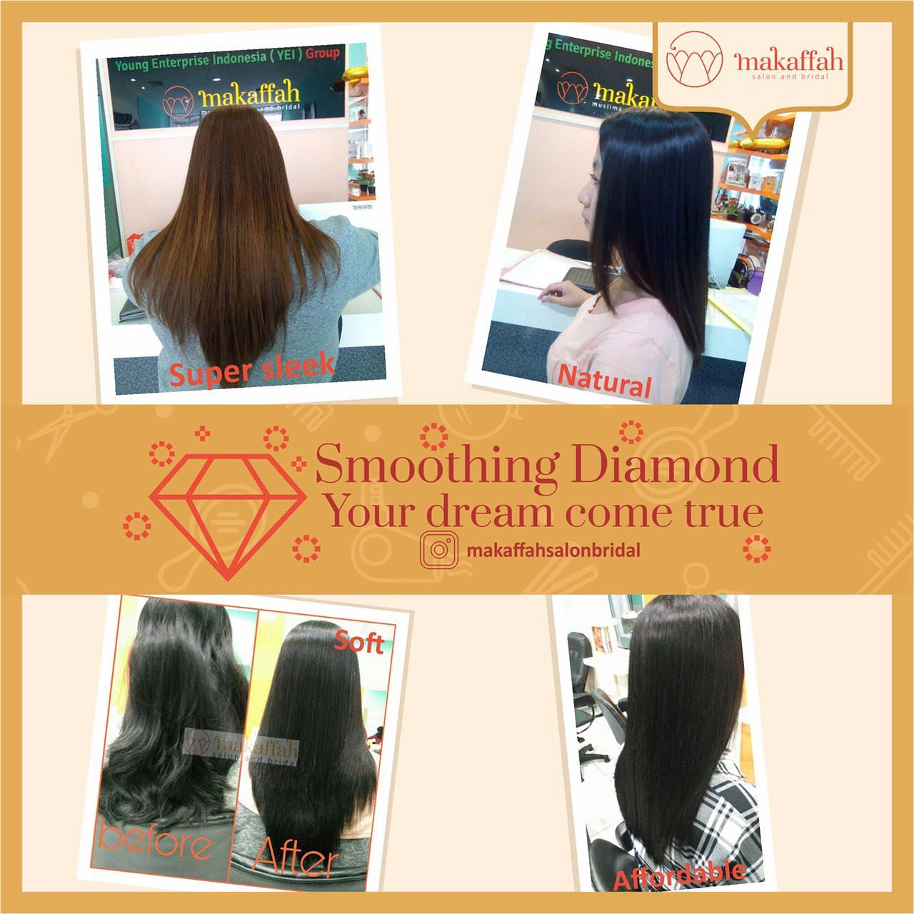 Smoothing Rambut Diamond