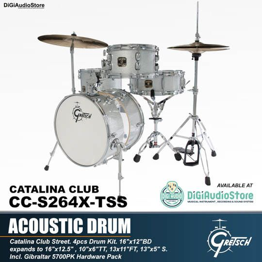 GRETSCH DRUM SET CATALINA CLUB CC-S264X-TSS
