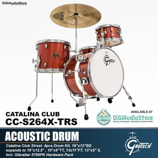 GRETSCH DRUM SET CATALINA CLUB CC-S264X-TRS