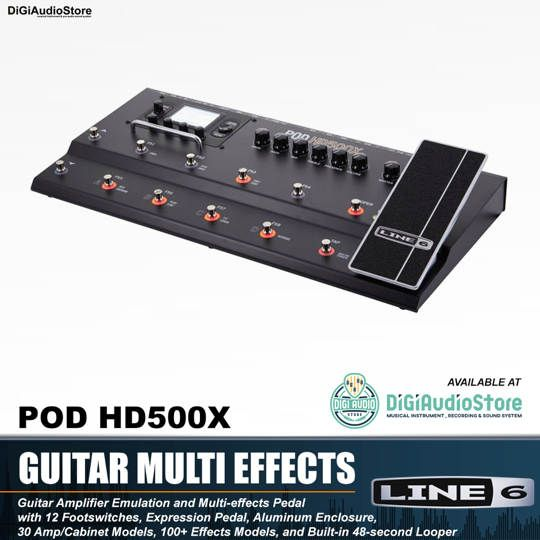 LINE6 POD HD500X Guitar Multi Effect Processor