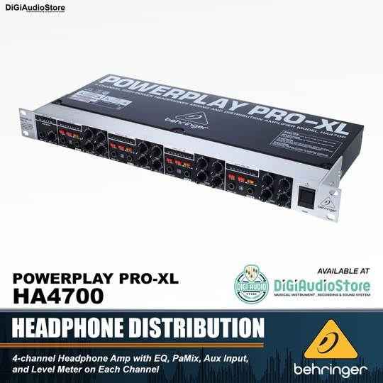 Behringer HA4700 Powerplay Pro-XL Headphone Distribution Amplifier