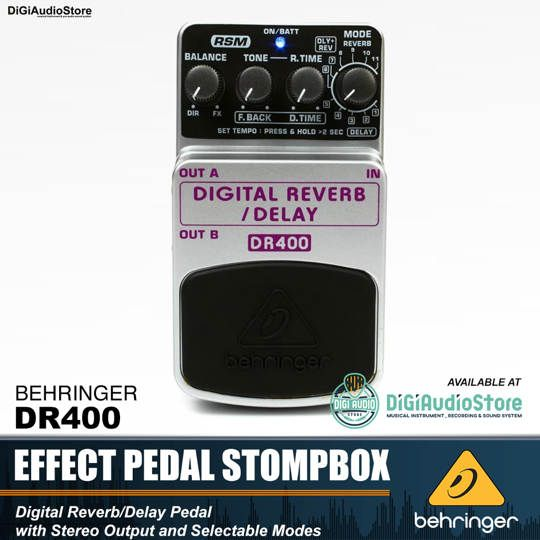 Behringer DR400 Digital Reverb Guitar stompbox