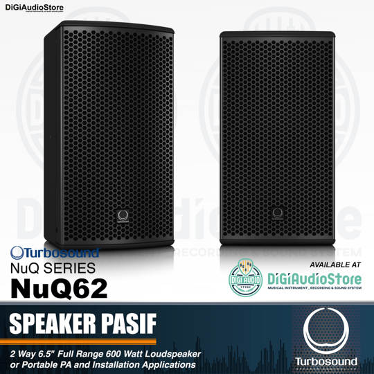 Turbosound NuQ62 6,5 inch 600 Watt NuQ Series Speaker Pasif Sound System