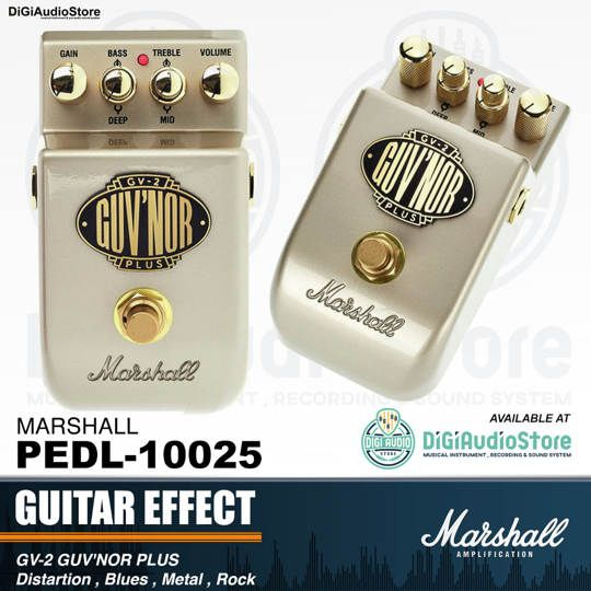 Marshall GV-2 Guv'nor Plus Distortion Pedal Stompbox