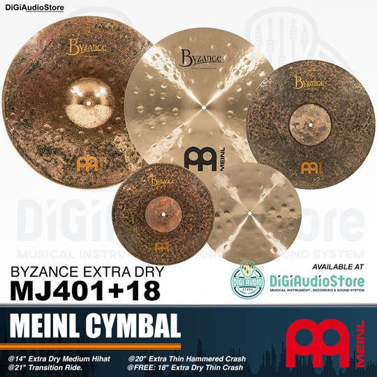 Meinl MJ401+18 Cymbal Set 3 Pcs Cymbal + 1 Free 18 Extra Dry Thin Crash