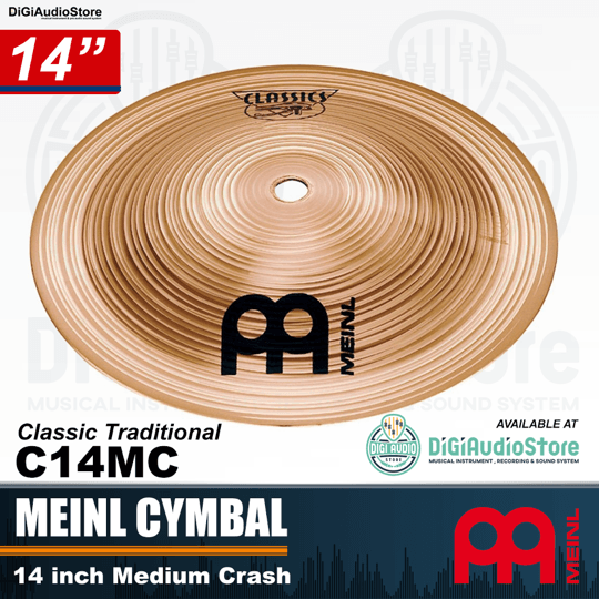 Meinl Cymbal Classic 14 inch Medium Crash C14MC