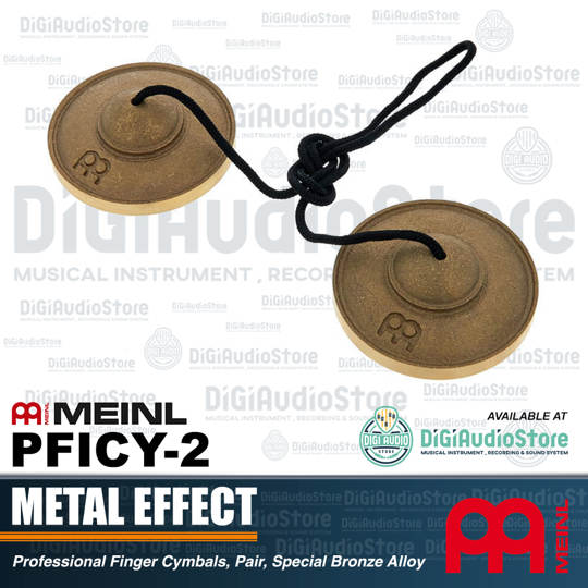 Meinl PCYFI-2 Professional Finger Cymbals, Pair, Special Bronze Alloy