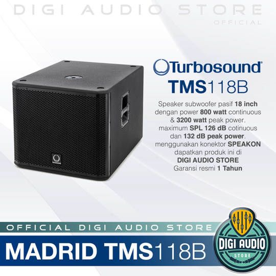 Turbosound TMS118B Single Subwoofer 18 inch 3200 Watt MADRID SERIES