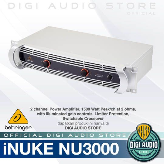 Stereo Power Amplifier Behringer iNuke NU3000 - 3000 Watt