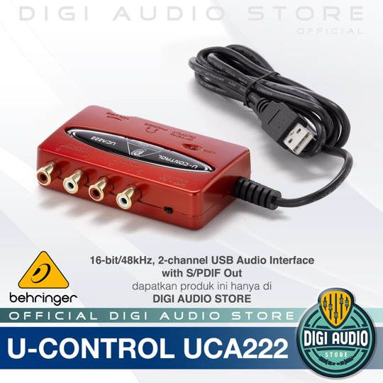 Soundcard Behringer U-Control UCA222 USB Audio Interface