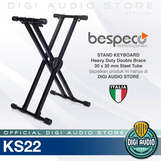 Bespeco KS22 Stand Keyboard Double 30 x 30 mm Steel Tube
