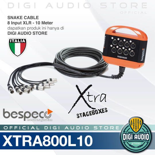 Snake Cable Bespeco XTRA800L10 Kabel Junction Box 8 Input - 10 meter