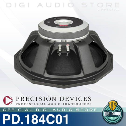 Speaker Komponen Precision Devices PD.184C01 Bass Driver