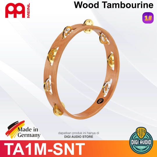 Meinl TA1M-SNT RECORDING COMBO WOOD TAMBOURINES, DUAL-ALLOY JINGLES
