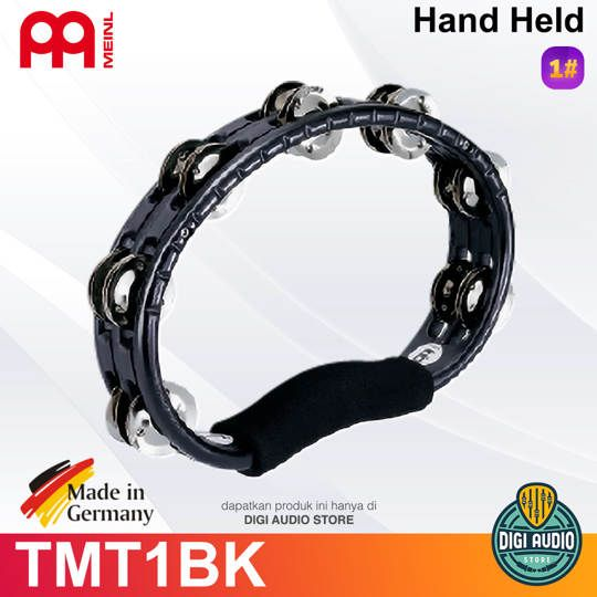 Meinl Percussion HAND HELD TRADITIONAL TAMBOURINE TMT1BK