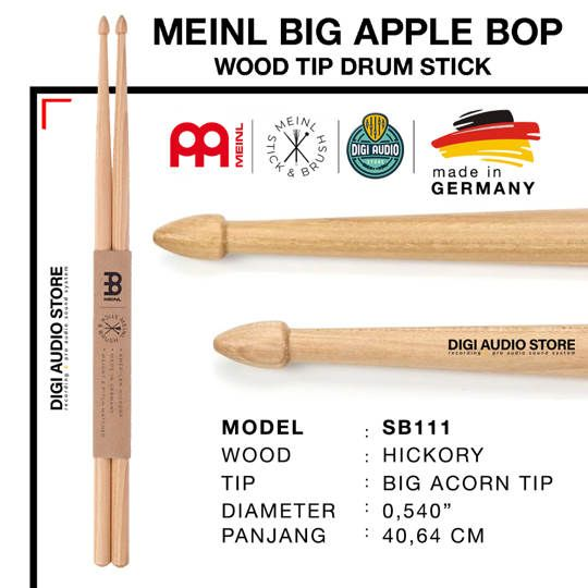 STICK DRUM MEINL SB111 MEINL BIG APPLE BOP WOOD TIP DRUM STICK