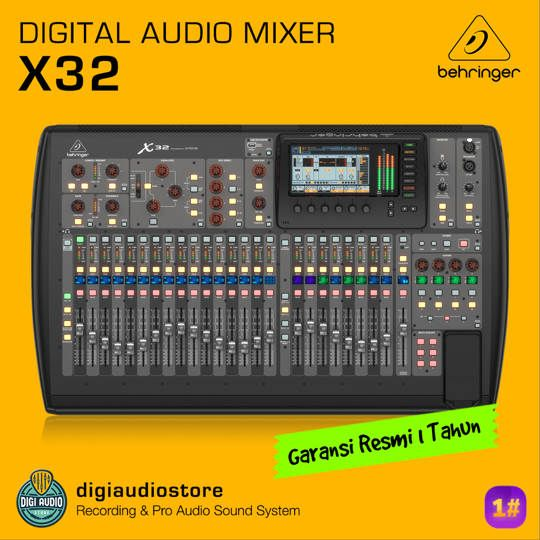 BEHRINGER X32 - Audio Mixer Digital 32 Channel with Midas Preamp