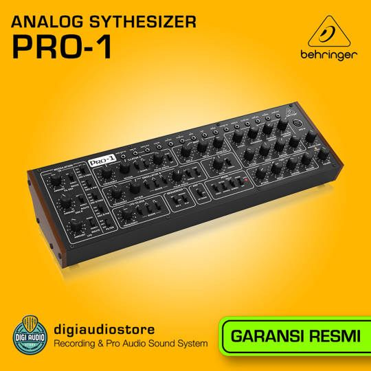 Analog Synthesizer Behringer Pro-1 with Patch Matrix, 64-note Dual Step Sequencer, and Arpeggiator