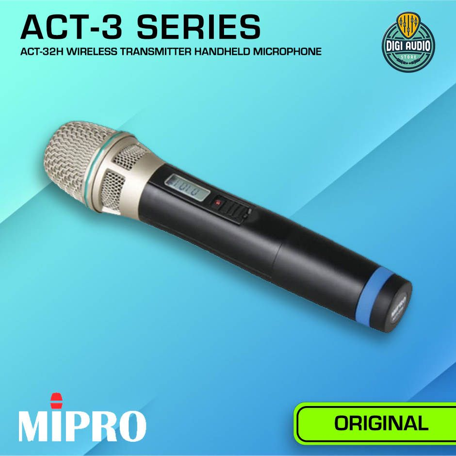 Wireless Microphone Quad Channel MIPRO ACT-343 + 4 Unit ACT-32H Handheld Mic - ACT343-4X-ACT32H