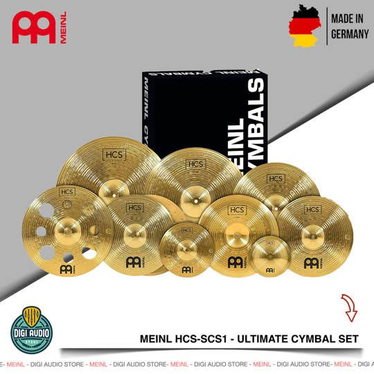 MEINL HCS-SCS1 - Ultimate Drum Cymbal Set - HCS Series