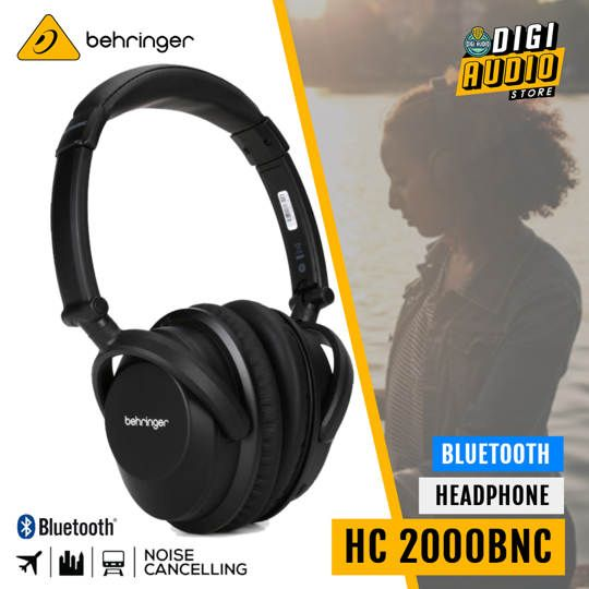 BEHRINGER HC2000BNC Wireless Headphone Bluetooth Noise Canceling with Microphone - HC 2000BNC
