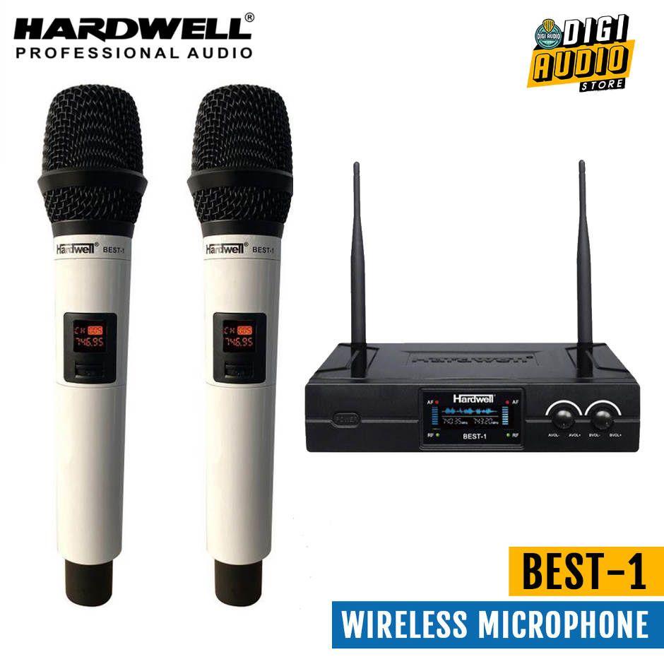 HARDWELL BEST 1 - Wireless Microphone Vocal 2 Handheld Mic UHF