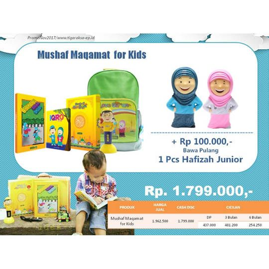 Mushaf Maqomat for Kid + Hafizah Junior
