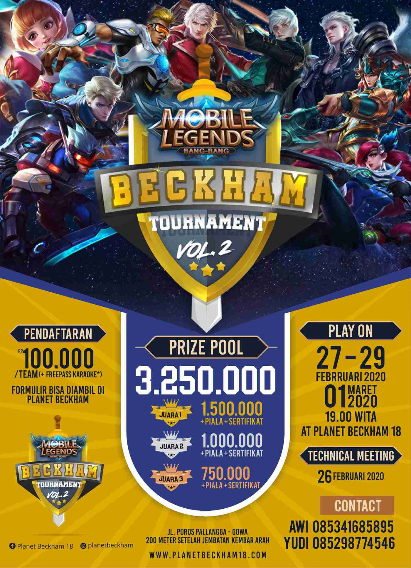 Mobile Legend Beckham Tournament vol. 2