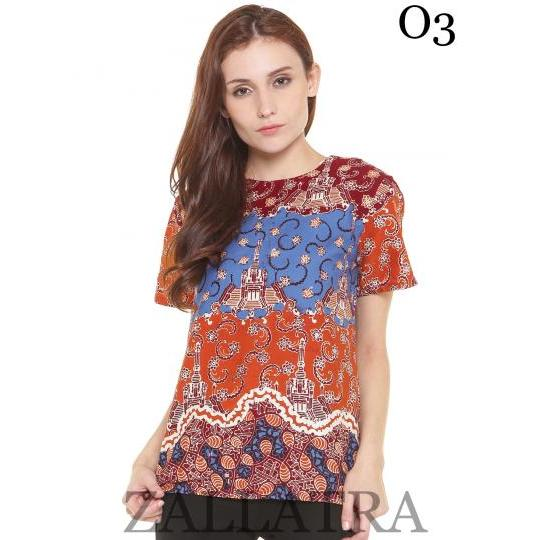 Model Baju Batik Blouse O3