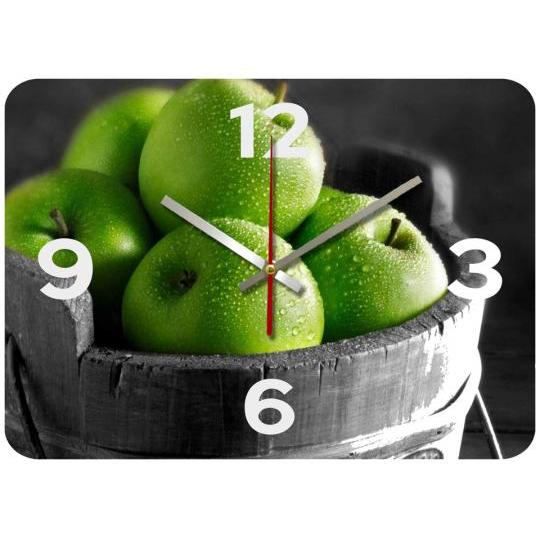 Jam Dinding Unik - Green Apple