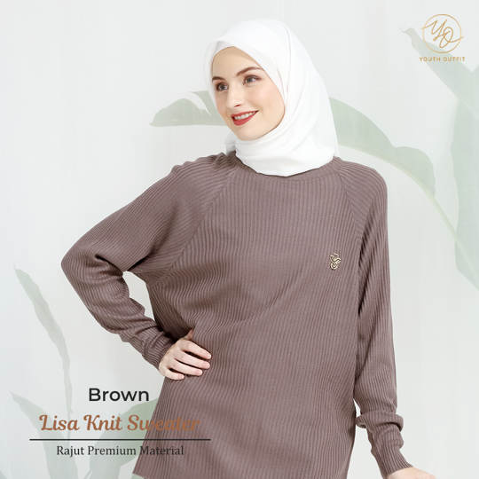 BOXY SWEATER PREMIUM -  LISSA YOUTHFIT - BROWN