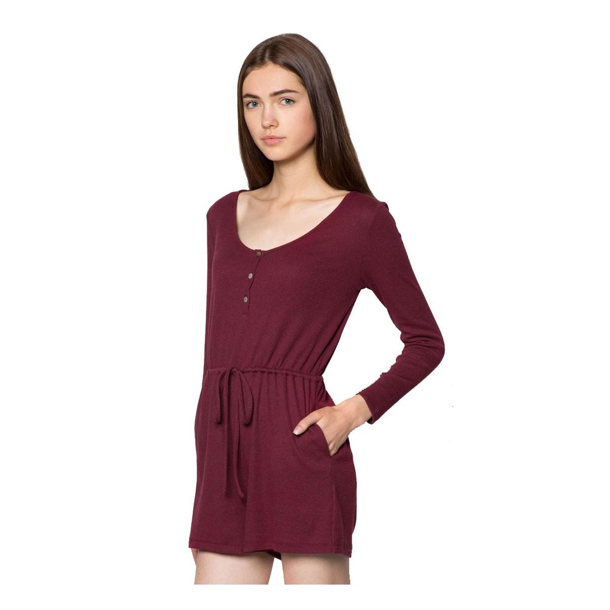 Basic Long Sleeves Playsuit